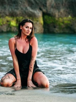 sexy girl near to beach