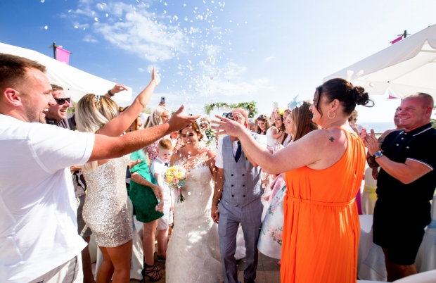 Wedding blessing in hotel of Tenerife