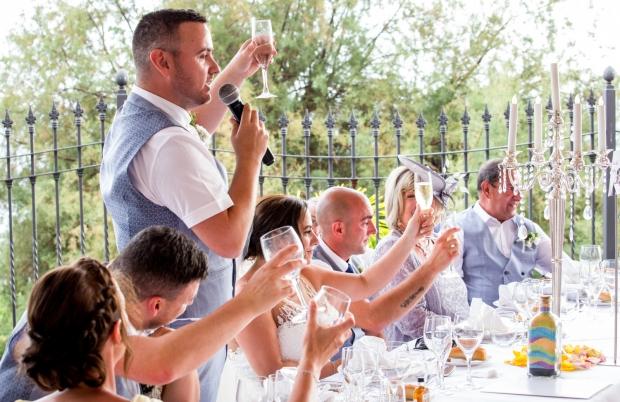 Wedding speech in hotel of Tenerife