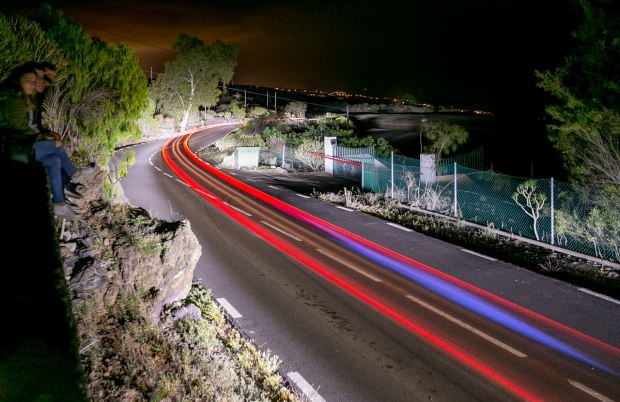 Rally by night in Tenerife, Canarias