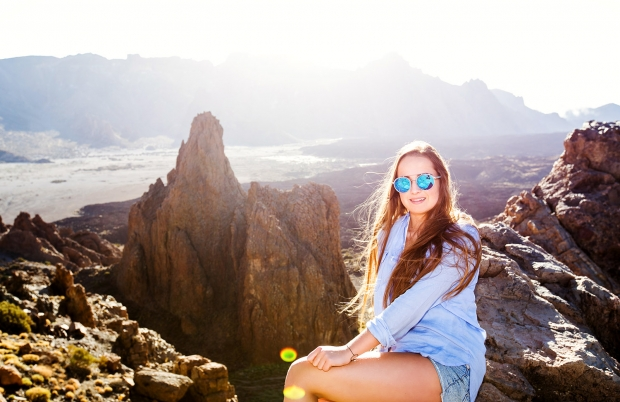 Girl in Teide National park