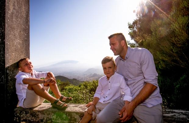 Family shooting in Anaga mountains, Tenerife
