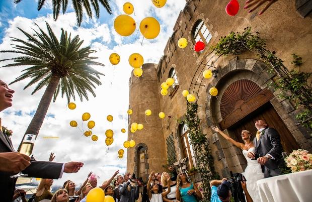 Wedding celebration in castle of Tenerife