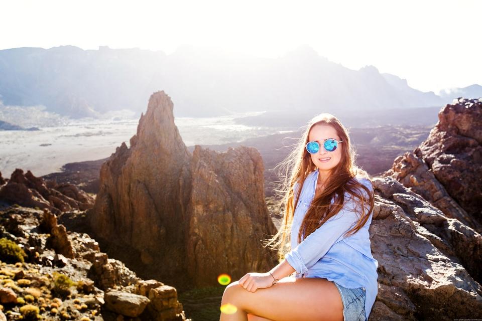 Girl in Teide National park